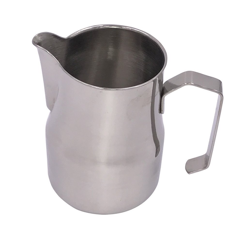 ivykin 12 oz Milk Jug Spout Easy Pouring for Cappuccino Latte Espresso Coffee, Durable 304 Stainless Steel Food Safe Jug