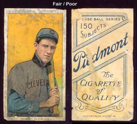 1909 t206 tobacco (baseball) card#184 wilbur goode of the Cleveland Indians Grade Fair/Poor