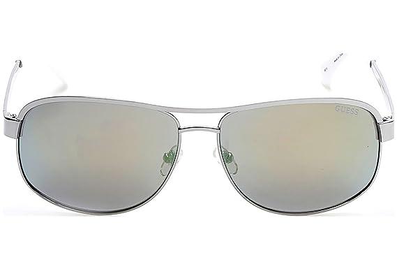 Lunettes de soleil Guess GU6874 C63 06Q (shiny dark nickeltin   green  mirror)  Amazon.fr  Vêtements et accessoires 65390b61dbd2