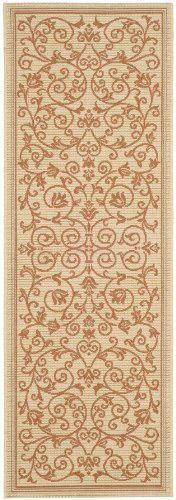 Safavieh Courtyard Collection CY2098-3201 Natural and Terra Indoor/ Outdoor Runner (2