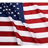 ANLEY® [Heavy Duty] American US Flag 3x5 Foot Nylon - Embroidered Stars and Sewn Stripes - 4 Rows of Lock Stitching - USA Banner Flags with Brass Grommets 3 X 5 Ft