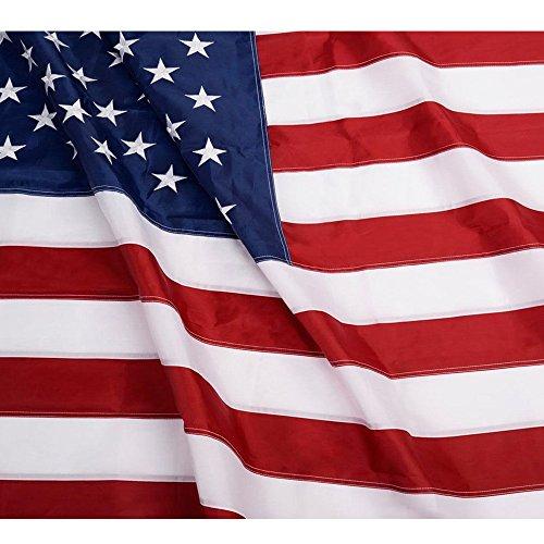 Embroidered Nylon American Flag - 3