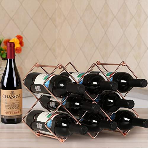 10 Bottle Espresso Wine Cart - 9