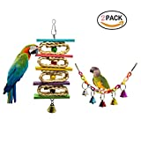 Schnappy Natural and Colorful Knots Block Parrot Chewing Toys for Small and Medium Birds