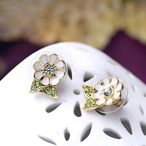 Enamel Bouquet - JD Million shop Women Simple Elegant New Look Bouquet Enamel Earrings Designer Jewelry Factory Wholesale