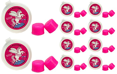 (Putty Buddies Floating Earplugs 10-Pair Pack - Soft Silicone Ear Plugs for Swimming & Bathing - Invented by Physician - Keep Water Out - Premium Swimming Earplugs - Doctor Recommended (Hot Pink))
