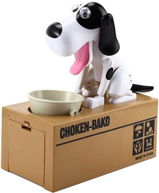 Apreciar Caja de Ahorro Perro Recolección de Monedas Creativo Eléctrico Dibujos Animados Robar Dinero Perro Comer Dinero Caso de Perro Recuerdo: Amazon.es: Hogar