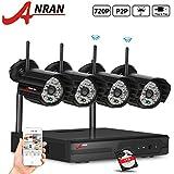[Auto Pairing]ANRAN 4 Ch Wireless Security 720P NVR Video Surveillance Camera System with 4 O utdoor Indoor Day Night Vision 48 IR IP Camera 1TB Hard Drive Plug&Play