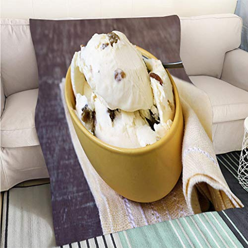 BEICICI Super Soft Flannel Thicken Blanket Rum Raisin ice Cream Sofa Bed or Bed 3D Printing Cool Quilt
