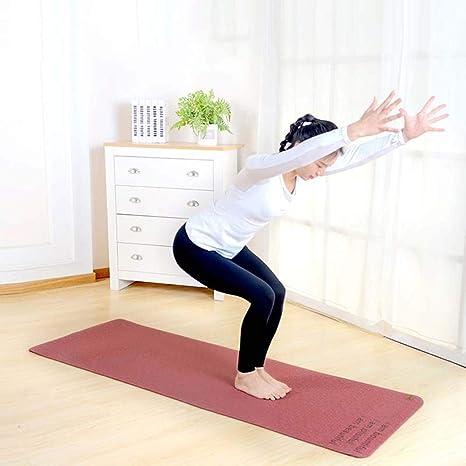 Amazon.com : YXGYJD Pilates Mat Yoga Mat Natural Rubber Yoga Dance Fitness Yoga Mat, Rebound, Non-Slip, Tear Resistant, Durable, 183x61 cm - Yoga, Sit-ups, ...