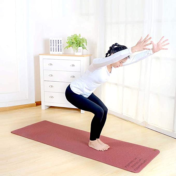 Amazon.com : YXGYJD Pilates Mat Yoga Mat Natural Rubber Yoga ...