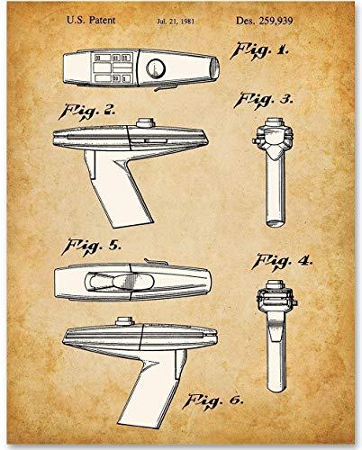 Star Trek Phaser - 11x14 Unframed Patent Print - Great Gift for Trekkies