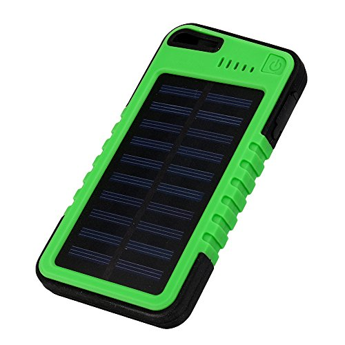 Dreamyth Practical 20000 mah Dual-USB Waterproof Solar Power Bank Battery Charger For Cell Phone (green)