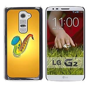 Paccase / SLIM PC / Aliminium Casa Carcasa Funda Case Cover para - Saxophone Music - LG G2 D800 D802 D802TA D803 VS980 LS980