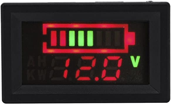 TESTER LIVELLO BATTERIA 12V Piombo a 4 LED Lead acid BATTERY LED LEVEL INDICATOR