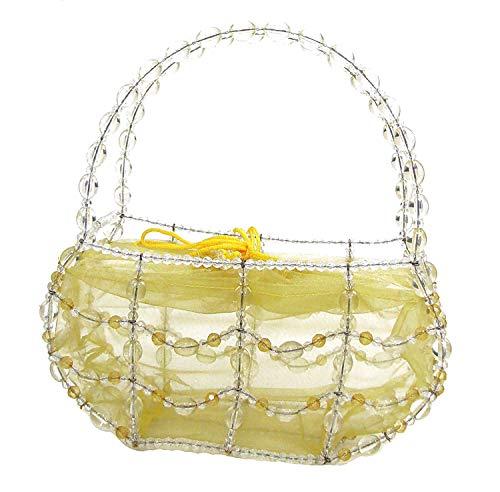 - Linpeng Fiona Hand Made Wire Beaded Handbag, 9 x 4.75 x 3