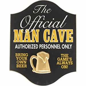 Handcrafted Wooden Sign - Official Man Cave