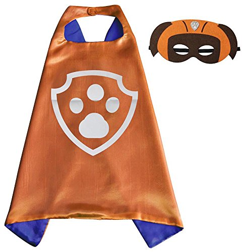 Over 35+ Styles Superhero Halloween Party Cape and Mask Set for Kids (Zuma) (Astronaut Mask)