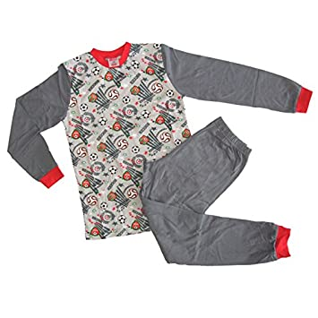 Fancy Classic Collection Boys Red   Grey football Pyjama by Bonny 8-9yr   Amazon.co.uk  Baby 5e9f89dbe