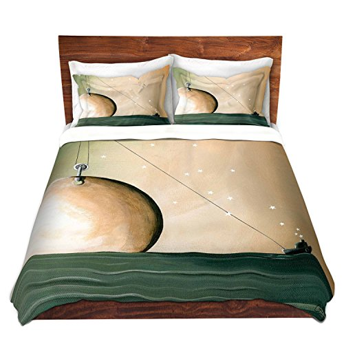 DiaNoche Designs Cindy Thornton-a Solar System Brushed Twill Unique Home Decor Bedding Cover, 7 Queen Duvet Sham Set by DiaNoche Designs