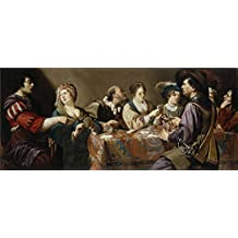 'Rombouts Theodoor Jugadores de naipes ' oil painting, 10 x 23 inch / 25 x 59 cm ,printed on polyster Canvas ,this Best Price Art Decorative Canvas Prints is perfectly suitalbe for Study decor and Home decor and Gifts