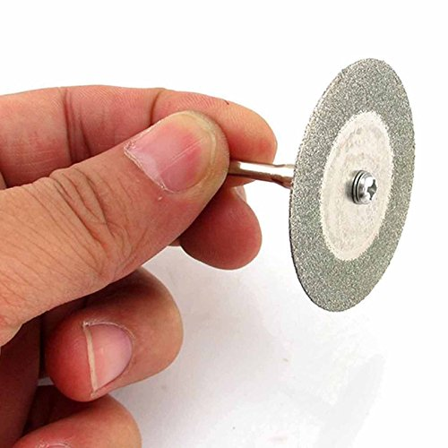 Cutting Edge Diamond Blades (MMRM Blade 60mm Diamond Cutting Disc Saw With Mandrel for Rotary Dremel Tool)