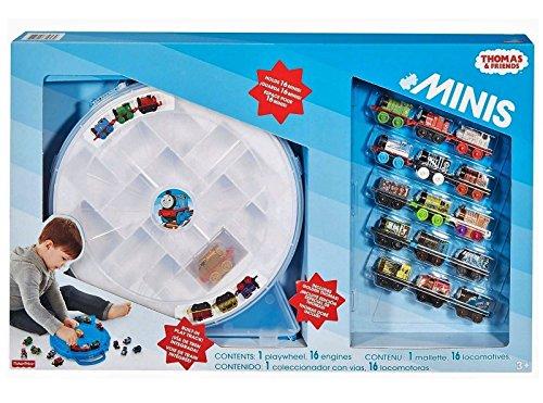 - Thomas Tank Minis Playwheel +16 Trains Golden Thomas Built in Track