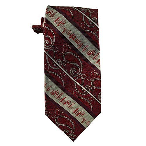musical staff treble clef tie for orchestra, music teachers, music students, musicians, music directors, music composers (Red) (Savior Redeemer Of My Soul Piano Sheet Music)