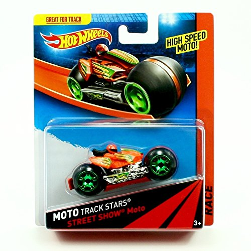 STREET SHOW MOTO Hot Wheels 2013 Moto Track Stars High Speed Motorcycle (BDN43) - Racers Race Rig