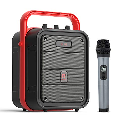 Shinco SJ52 Portable Karaoke Machine with Wireless Microphone, Rechargeable PA System, Bluetooth Speaker with FM Radio, Audio Recording, Remote Control
