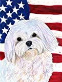 Caroline's Treasures SS4044CHF USA American Flag with Maltese Flag Canvas, Large, Multicolor