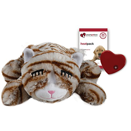Smart Pet Love Snuggle Kitty Behavioral Aid Toy for Pets, Tan Tiger