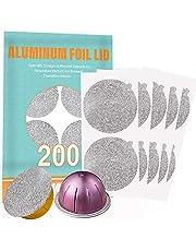 CAPMESSO Aluminum Foils Lids to Reuse Capsules Coffee Pods Compatible with Nespresso VertuoLine 64mm