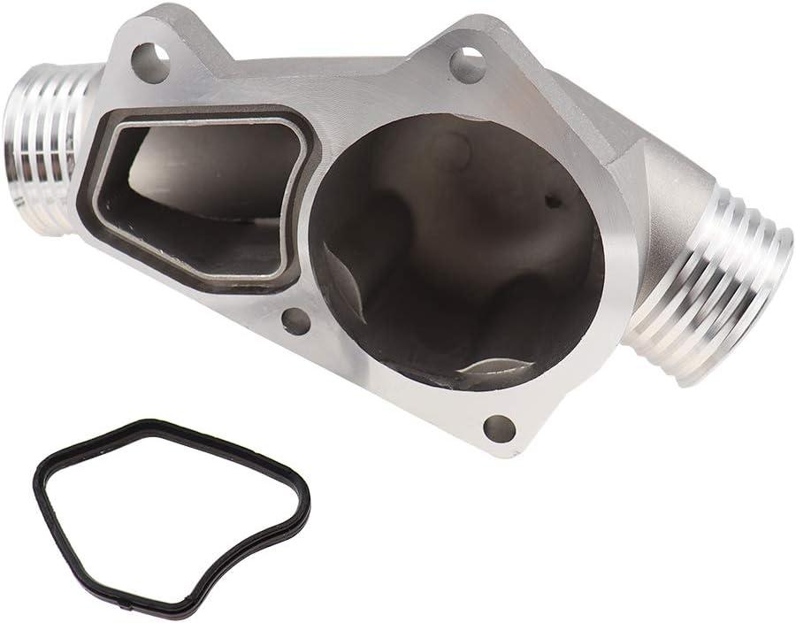 Semoic Couvercle de Bo?Tier de Thermostat en Aluminium Am/élior/é avec Joint pour M3 Z3 E34 E36 11531722531 11531740437 Poli