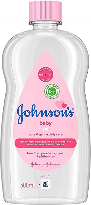 Johnson's Baby Oil 500ml   Pack of 1, 500mL Baby Oils