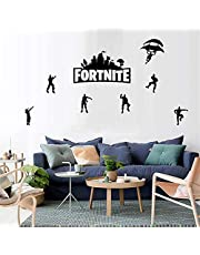 Black DIY Fortress Night FORTNITE Game wall stickers Metallic Effect View Home Devor Wall Decal Removable Home Design Wallpaper Poster Murals for Living Room ,Bedroom & TV Background Wall Stickers