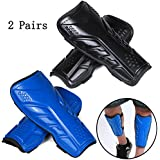 2 Pairs Soccer Shin Guards for Adults and Youths, Lightweight Protective Gear Soccer Equipment forKids, Boys, Girls Over 12 Years Old