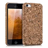 kwmobile Cork case for Apple iPhone 5C - protective case cover in light brown
