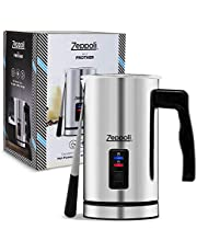 Zeppoli Milk Frother and Warmer - Automatic Milk Heater, Electric Milk Steamer and Milk Foamer   Great as a Latte Frother and Cappuccino Maker for Coffee and Hot Chocolate - Comes With a Silicone Scraper