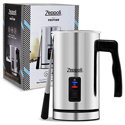 Zeppoli Milk Frother and Warmer – Automatic Milk Heater, Electric Milk Steamer and Milk Foamer | Great as a Latte…