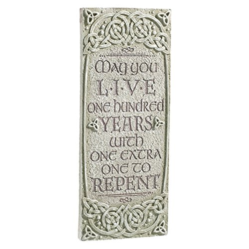 Grasslands Road Celtic Heritage Outdoor Vertical Plaque, 472014 (May You Live)