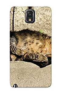 New Arrival Case Cover With SqKKWib1177iMZob Design For Galaxy Note 3- Sleeping Cat