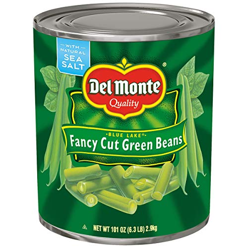 - PACK OF 8 - Del Monte: Blue Lake Fancy Cut Green Beans, 6.3 Pound
