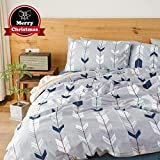 VClife Cotton Bedding Sets Arrow Twin Duvet Cover for Boys Girls Teens Adults, Reversible Geometric Herringbone Design Comforter Quilt Cover Sets Kids 3 PCS Bedding Collections