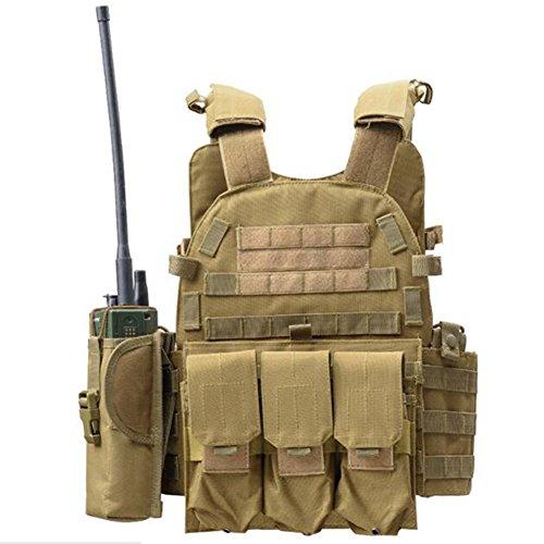 Viktion - Gilet Tactique Armée Airsoft equipement Ajustable Fournitures Police et Les Militaires, engins Tactiques pour… 1