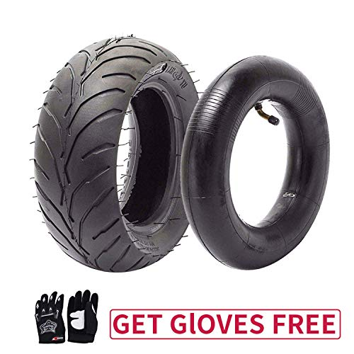 110/50-6.5 Tire and Inner Tube for 49cc Mini Pocket Rocket Bike,Thicker Tire and Tube 110 50 6.5,Free Black Gloves (110 Pocket Rocket)