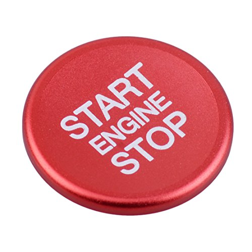 beler Red Engine Start Stop Button Cover Knob Switch Ring Fit for Alfa Romeo Giulia 2017