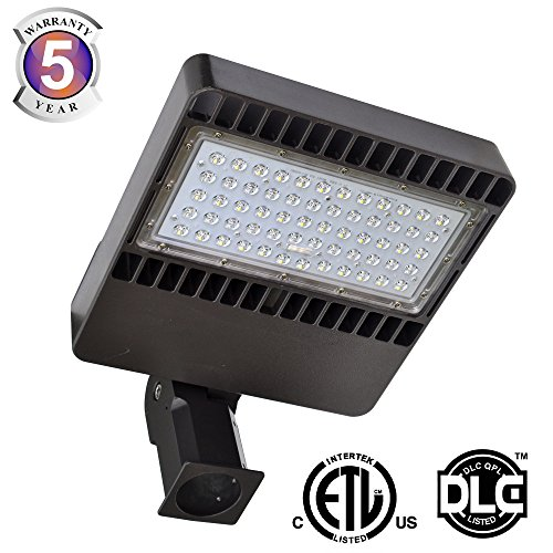 Docheer 80W LED Shoebox Fixture Parking Lot Pole Light Street Area Road Lamp 8800LM Outdoor Site Lighting100-277VAC80Watts250W MH Equivalent Waterproof