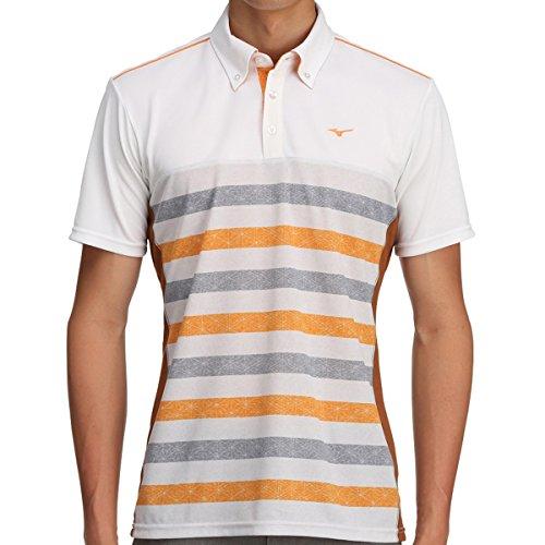 [ミズノ] メンズ ゴルフ MG 半袖シャツ ソーラーカット ボディーマッピング オレンジクラウンフィッシュ 52MA700554