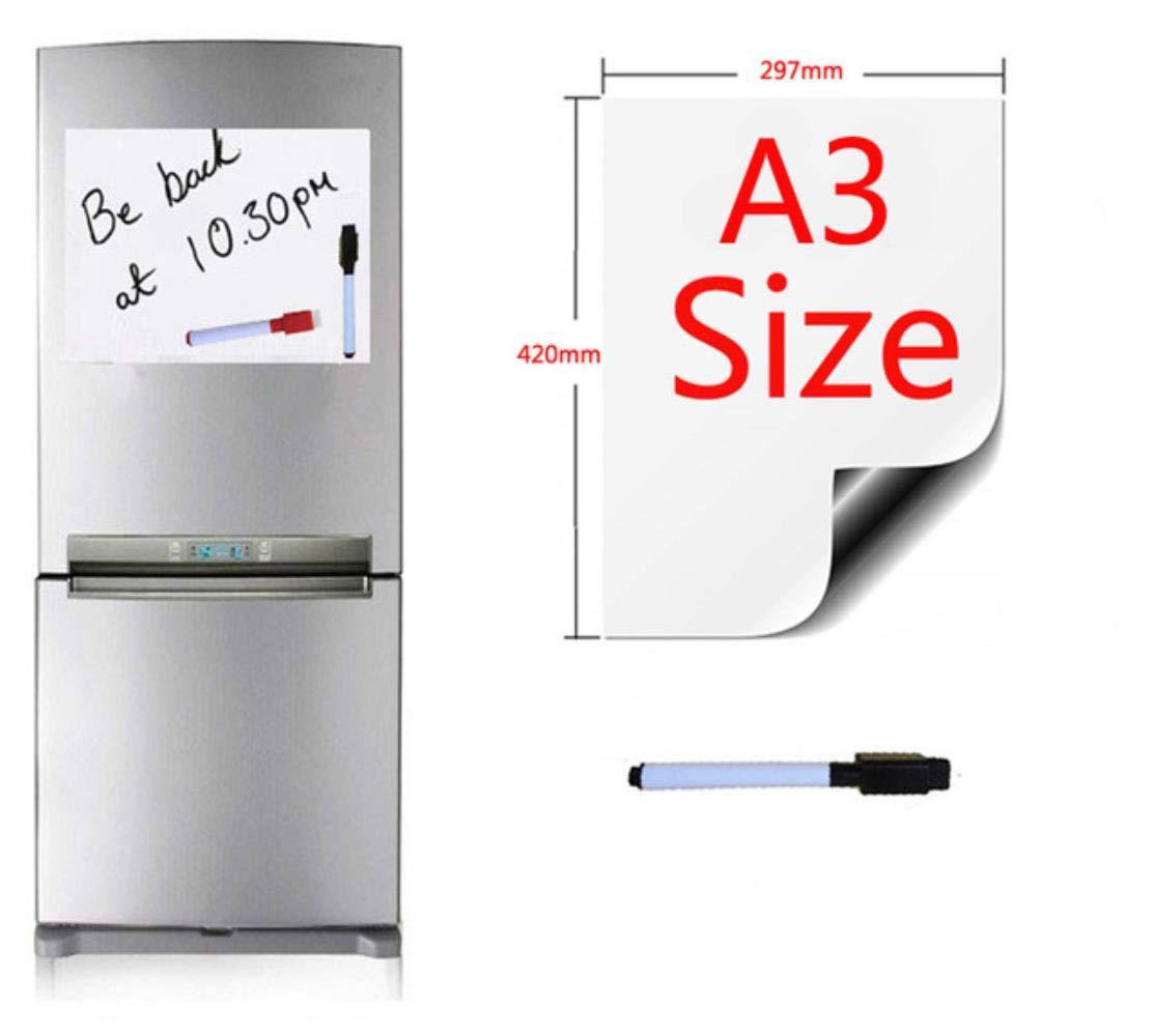 Three Stationery - Pizarra magnética para oficina (tamaño A3 ...